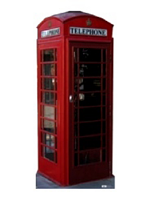 Classic Red Retro Phone Box. Cardboard Cutout