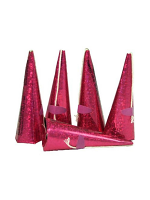 Cone Shaped Luxury Party Popper Pink - 10