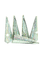 Cone Shaped Luxury Party Popper Silver - 10