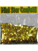 Confetti Gold Mini Stars  bag of 84g