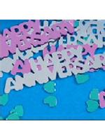 Confetti HAPPY ANNIVERSARY SILVER AND PURPLE  14g bag