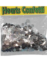 Confetti SILVER HEARTS  bag of 84g