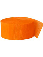 Crepe Streamer - Orange