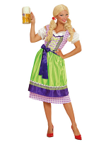 Dirndl Bavarian Costume - Green / Purple