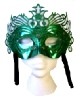 Green Ornate Mask With Silver studs (1)