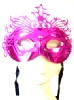 Hot Pink/Purple Ornate Mask With Silver Studs (1)
