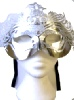 Silver Ornate Mask With Silver Studs (1)