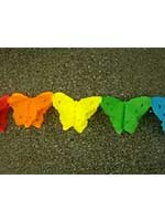 Decoration 'Butterfly' Assorted Colour Garland  (1)