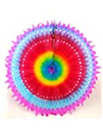 Decoration Big Sun Multi Coloured Honeycomb Hanging Fan