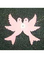 Decoration Love Doves Pink Garland (13ft) (1)