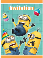 Despicable Me Party Invitations *ONLY ONE PACK LEFT IN STOCK*