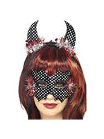 Devildina Mask and Horns Set,Black