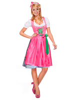 Dirndl Bavarian Costume - Purple / Pink