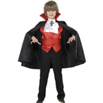 Dracula Boy Costume, Red and Black