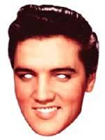 Elvis Face Mask.