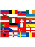 Euro 2016 Flag Pack 5ft x 3ft with 2 Free Bunting