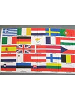 European 5ft x 3ft  Flag  With Eyelets For Hanging