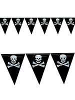 Bunting Pirate 15 Flags 6m