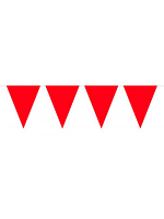 Bunting Red 10m with 15 Flags