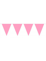 Bunting Pink Light 10m with 15 Flags