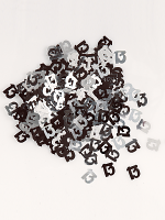 Birthday Glitz Black & Silver 13th Birthday confetti