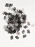 Birthday Glitz Black & Silver 80th Birthday confetti
