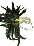Silver Eyemask with Feathers