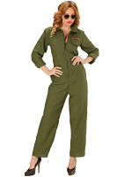 Fighter Jet Pilot Lady Overalls