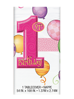 First Birthday Pink Table cover