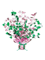 Flamingo & Palm Tree Centerpiece 15 Inch (Quantity 1)