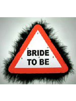Flashing Warning Sign Big Brooch Bride To Be (Pack Of 1)