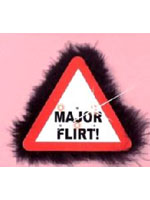 Flashing Warning Sign Big Brooch Major Flirt (Pack Of 1)