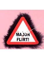 Flashing Warning Sign Big Brooch Major Flirt (Pack Of 1)