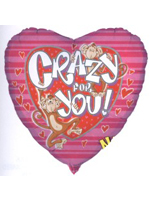 Foil Balloon 'CRAZY FOR YOU'