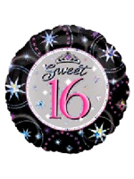 Foil Balloon 'SWEET 16 BIRTHDAY'