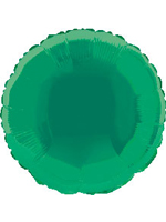 Foil Balloon Round Solid Metallic Green