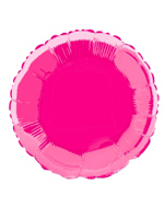 Foil Balloon Round Solid Metallic Hot Pink
