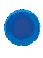 Foil Balloon Round Solid Metallic Royal Blue
