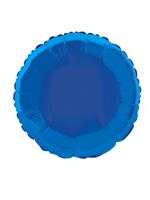 Foil Balloon Round Solid Metallic Royal Blue