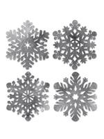 Foil Snowflake Cutouts