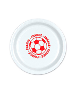 """France  Football 9"""" Plate ( 8 plates per pack)"""