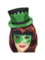 Frankie's Mini Hat On A Headband and Eye Mask Set,Green