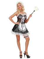 French Maid Satin/Lace Black/White (Dress Hat Garter Choker)