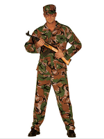 G I Joe Costume (Jacket Pants Hat)