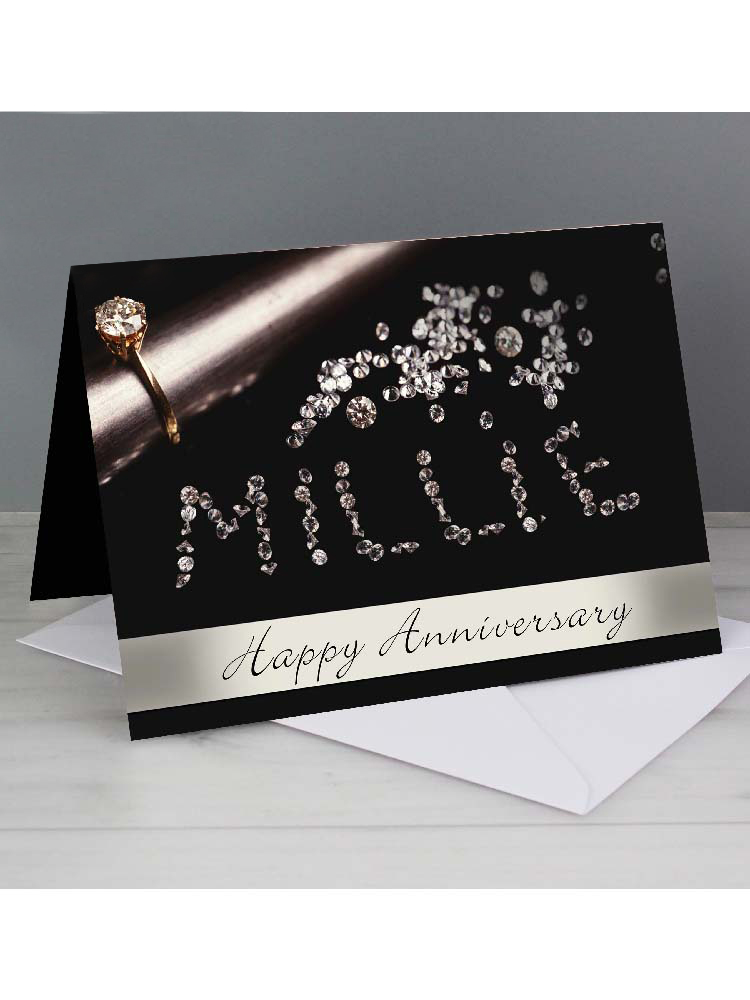 Personalised Diamonds Card