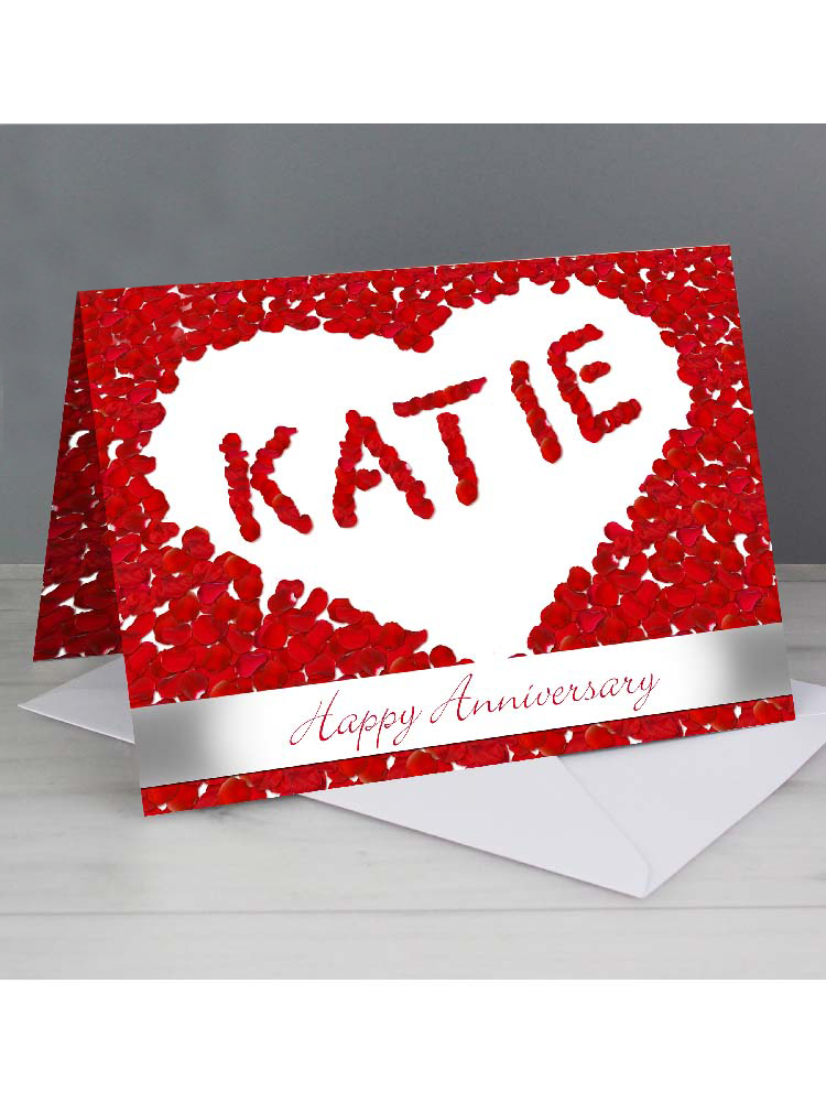 Personalised Petal Heart Card