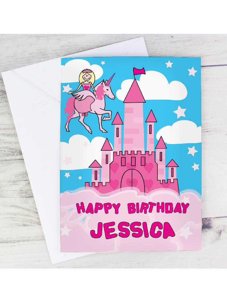 Personalised Princess & Unicorn Card