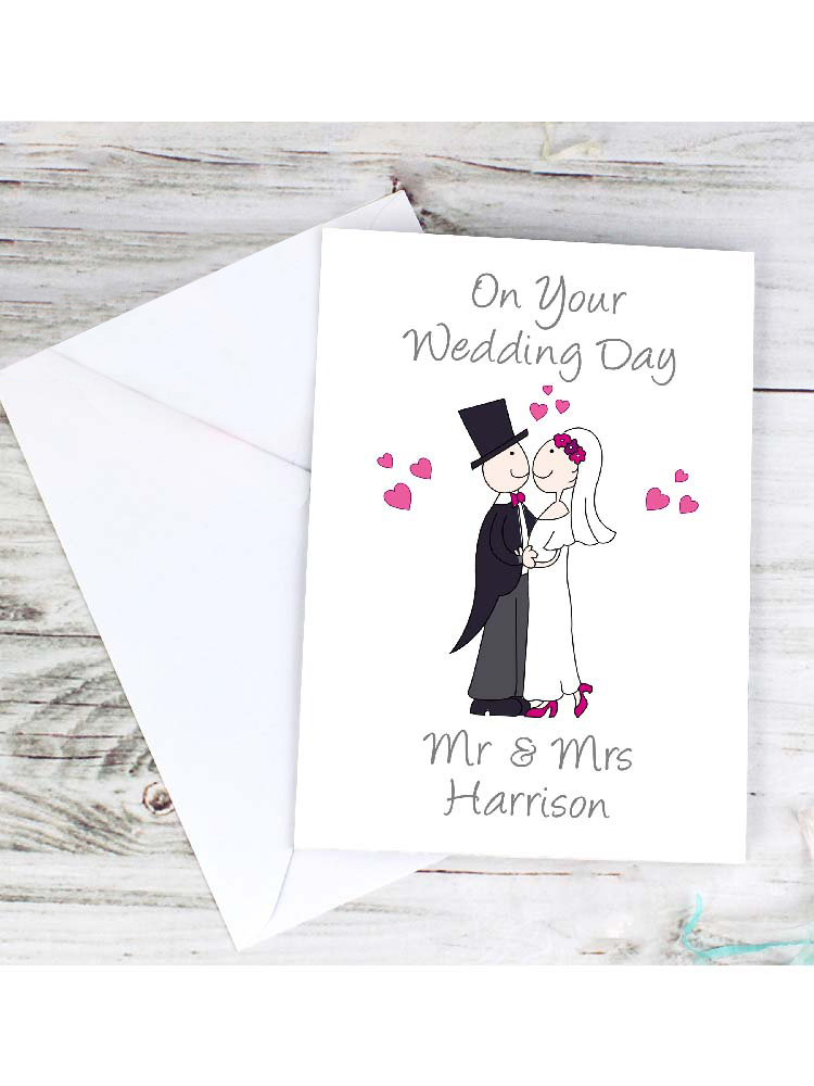 Personalised Cartoon Couple Card