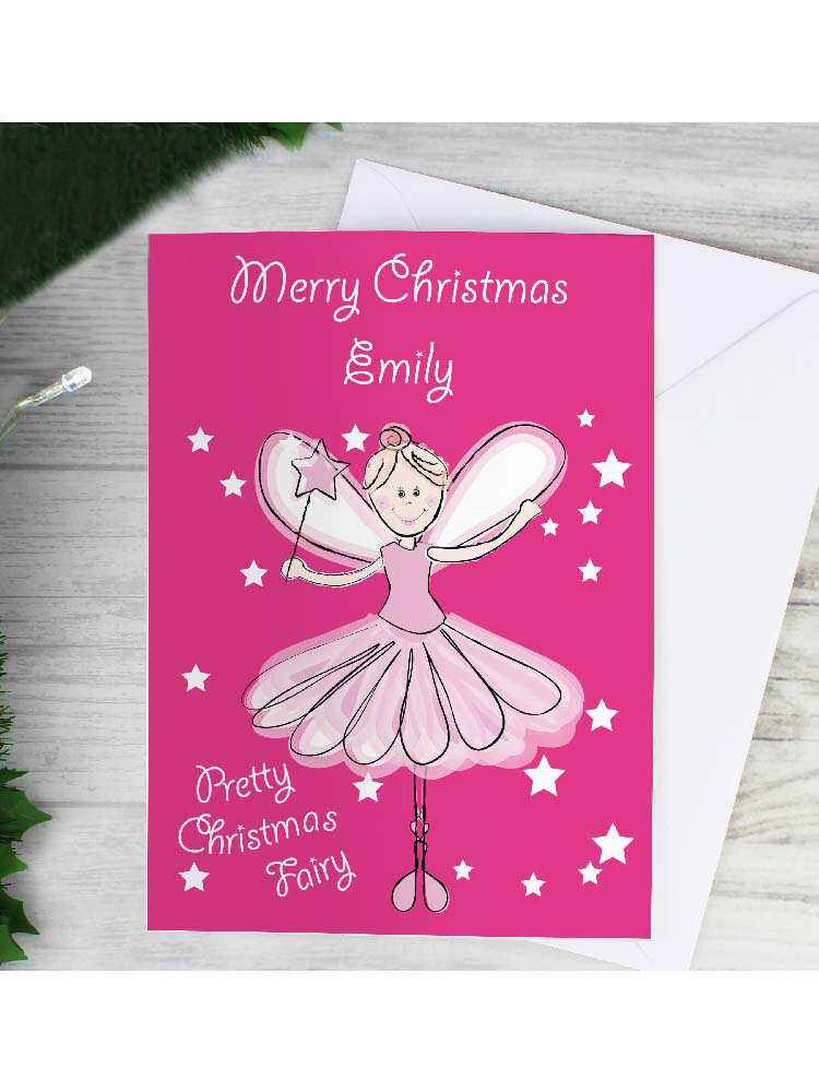Personalised Christmas Fairy Card