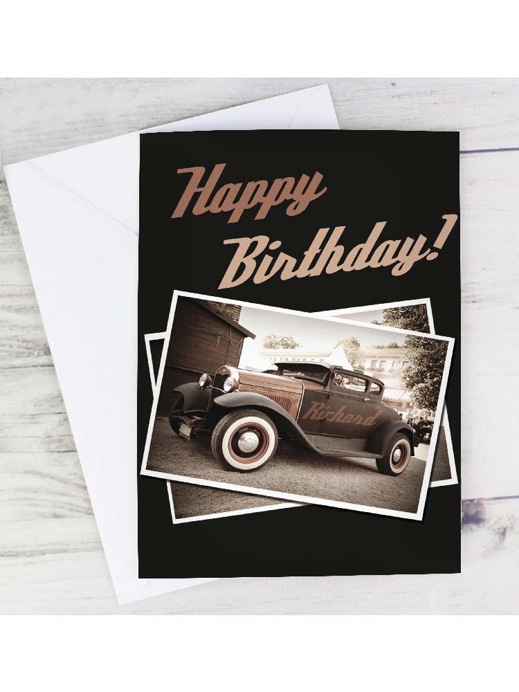 Personalised Classic Car Card